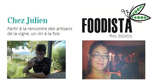 Chez Julien et Foodista en mission de 180 Degrés