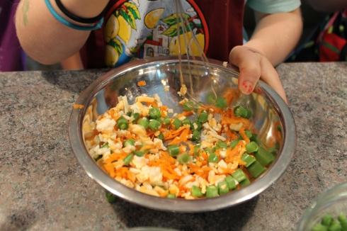 Mélange omelette à Nellie