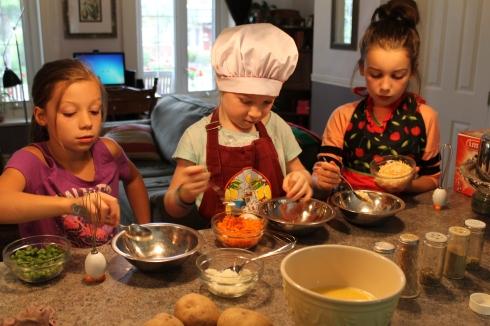 Omelettes préparation