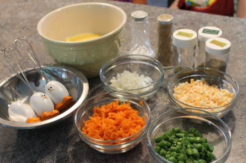 Préparation pour omelettes