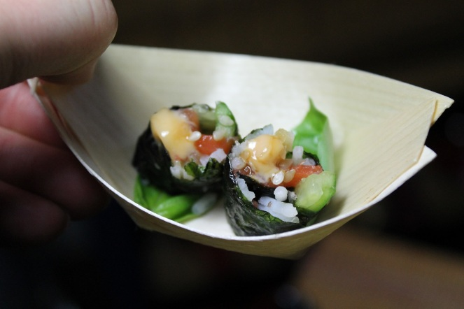 Mini sushis en barquette - Hungry Rachel