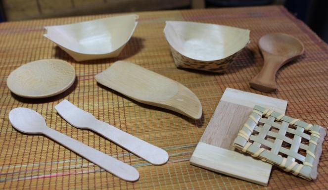Mises en bouche en bois et bamboo - Les Emballages de la Capitale