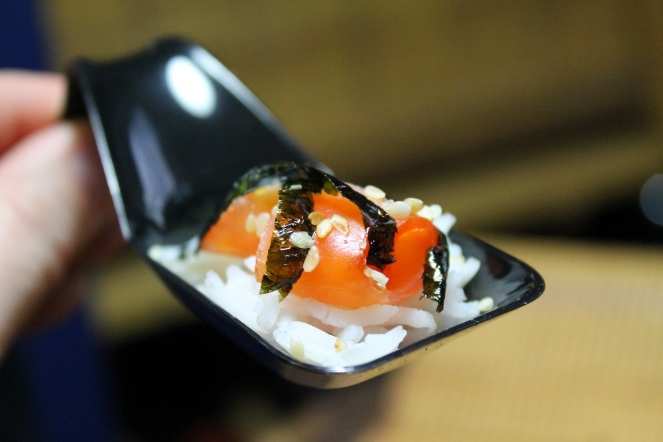 Saumon fumé riz nori sésame - Hungry Rachel
