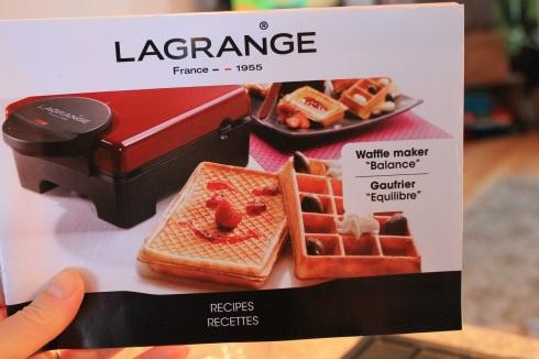Gaufrier Équilibre Lagrange - livre de recettes 1