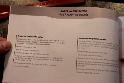 Gaufrier Équilibre Lagrange - livre de recettes 2