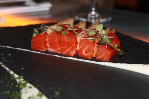 Gravlax et caviar de truite de mer RESTAURANT VERSA - Hungry Rachel