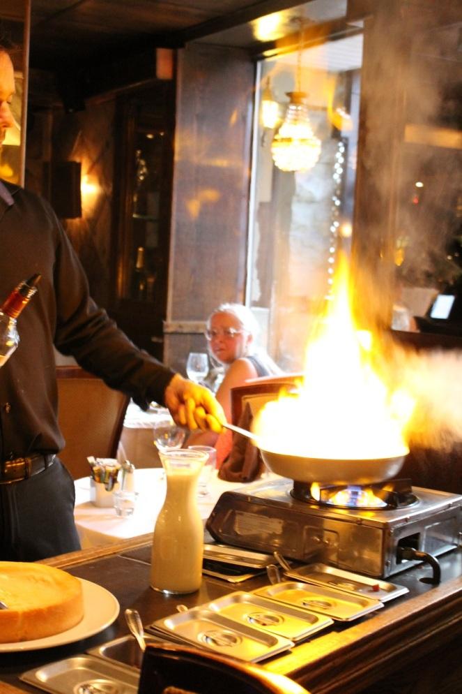Trattoria La Scala - pâtes flambées au guéridon - Hungry Rachel.jpg