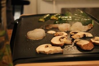 plancha-grill-lagrange-crevettes-et-legumes-hungry-rachel
