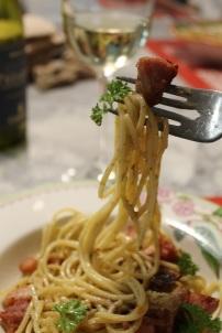Bouchée pâtes à la pancetta Fantino et Mondello et restes de jambon - Hungry Rachel